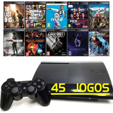 Ps3 + 45 Jogos + Playstation 3 Super Slim + Gta5 + Fifa 19