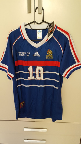 Camisa França Copa 98 - Zidane 10. R  180 3c0f1a277d5e9