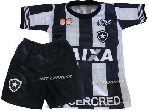 Uniforme Infantil Do Botafogo Infantil Camisa+shorts Futebol 9d8af0908102c