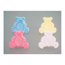 4 Puxadores Para Guarda Roupa Infantil (urso) Varias Cores