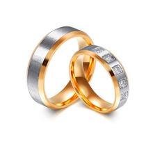 Aliança De Namoro Compriomisso Pedras Grossa Prata E Ouro