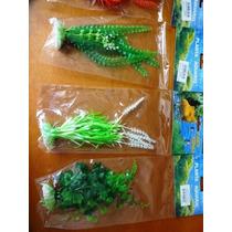 Plantas Artificiais Para Aquários Kit P,m,g 12 Unidades