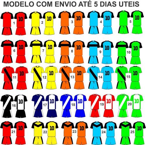 Uniforme Futebol Futsal Salão Quadra 10 Cnj Futl Dry Sport 13f986f16a315