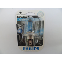Lampada Philips H4 4300k Cristal Vision Super Branca Moto