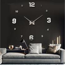 Relógio De Parede Sala Espelhado Grande Dois Modelos