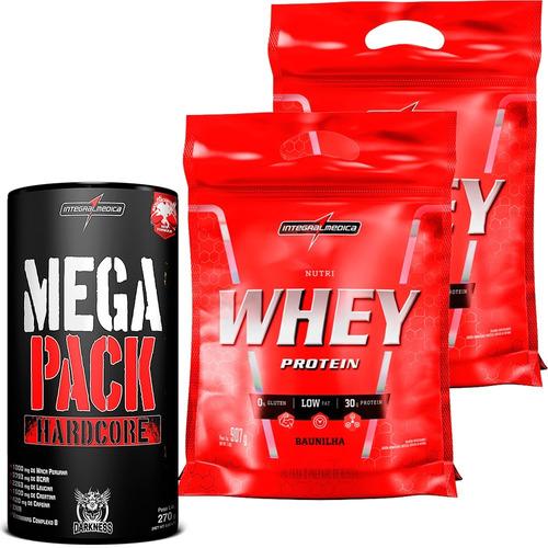 89a0d85c5 Nutri Whey Protein 907g + Mega Pack Hardcore 30 - Integralme - R ...