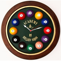 Relógio Decorativo Fundo De Barril Bilhar