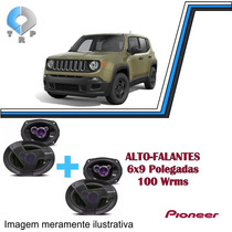 Kit Alto Falantes Jeep Renegade Pioneer 4pcs 6x9 400w