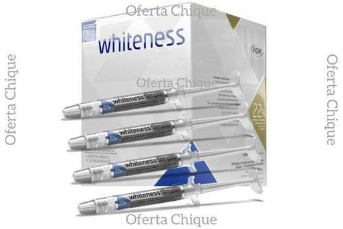 Clareador Dental Clareamento Whiteness Gel 22 C 4 Unidades R 62