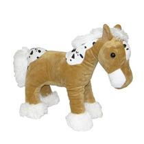 Cavalo De Pelúcia Em Pé Caramelo
