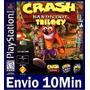 Crash Bandicoot 1 2 E 3 Na Mesma Conta Ps3 Código Psn