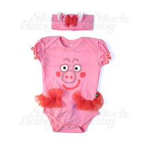 Body Infantil Peppa Pig Fantasia Roupas Bebe