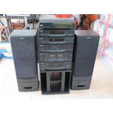 System Gradiente Legacy Ds2000 Toca Discos + Rack + 2 Caixas