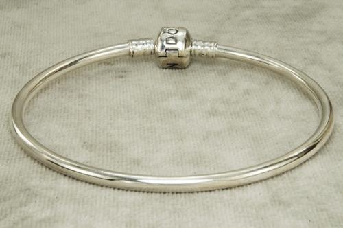 Bracelete Pulseira Estilo Pandora Lisa  L  Prata 925 R 135
