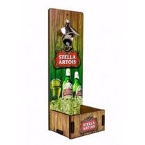 Abridor De Garrafas Parede Em Mdf Stella Artois - Luxo