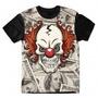 Camiseta Roupa 3d Full Palhaço Caveira Estampa Dólar Unissex