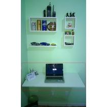 Bancada Mesa Parede Dobrável Branca Computador Estudo Cozinh