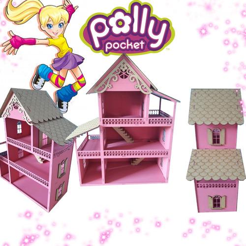 ccd9b256d Casa Casinha Polly Mdf Pintada Rosa