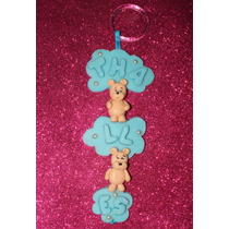 Enfeite Porta Maternidade De Biscuit Personagem+nome