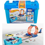 Hot Wheels Balde Track Builder Multi Loop + 1 Carrinho Matel