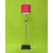 Abajur De Chão, Luminaria, De Pé,coluna Pedestal Vermelha Sp