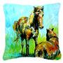 Grazin Cavalo Lona Tecido Decorativa Pillow Mw1126pw1818