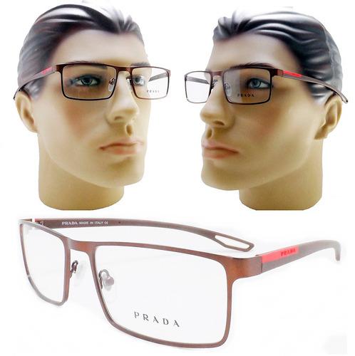 Armacao Oculos Grau Masculino Marrom Aro Fechado Moderna a637f16f17