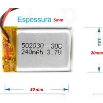 Bateria 3.7v 240 P/ Camera Chaveiro Espião E Relogio Espião