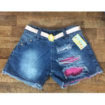 Shorts Jeans Infantil( Destroyed/oncinha)( Melhor Qualidade)
