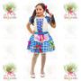Vestido Junino Caipira Infantil ° Festa Junina ° Flor Azul-x