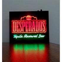 Placa Painel De Led Neon Desperados, P/ Bar, Churrasqueira