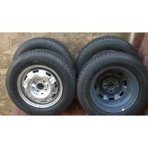 Jogo De Rodas Aro 13 Originais Vw Com Pneus Novos Dunlop