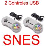 2 Controle Usb Super Nintendo Snes Para Pc Mac Raspberry Pi