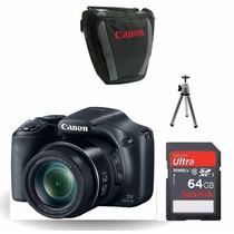 Câmera Canon Sx520 Hs Zoom 42x 64gb+bolsa+tripé+kt Limpeza