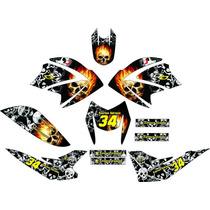 Kit Adesivo Gráfico Plotagem Moto Trilha Bros 125 2003-2014