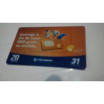 Cartão Telefônico Oi Cartão Total Domingo É Dia De Ddd Gráti