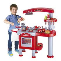 Super Cozinha Infantil Com Fogãozinho Lava-louça Pia Coifa