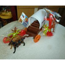 Gulliver Forte Apache Carroça Com Toldo + Canoa E Totem