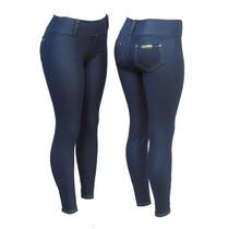 Kit 10 Calça Legging Cotton Jeans C/ Bolsos Atrás( Só Azul)