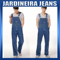 Jardineira Masculina Macacão Jeans Smith Estilo Americano