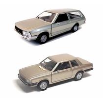 Kit Com 2 Miniaturas Ford Del Rey + Belina Carros Nacionais