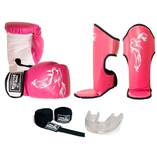 Kit Muay Thai Feminino Luva Caneleira Bandagem Bucal em Congonhas ... 998572f3165fa