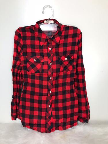 Camisa Blusa Xadrez Feminina