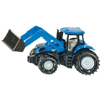 Toy Tractor Agrícola - Siku New Holland Com Frontloader