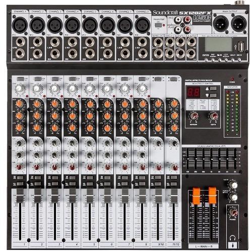 Mesa Soundcraft Sx1202fx Usb Com Efeitos E Usb