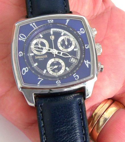 453f334301b Relogio Lancaster Fundo Azul Loucura Para Vender Rapido - R  245 en ...