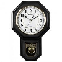 Relógio Parede Herweg 5304 034 Preto Pêndulo - Refinado