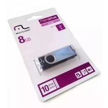 Kit 6 Pen Drive Multilaser  8gb Original No Atacado