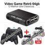 Video Game Retro 64gb 2 Controles Sem Fio   2 Com Fio