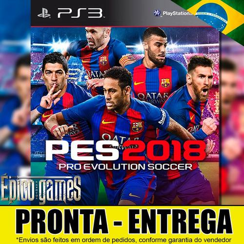 Jogo Pro Evolution Soccer 2018 Pes 2018 Ps3 Português